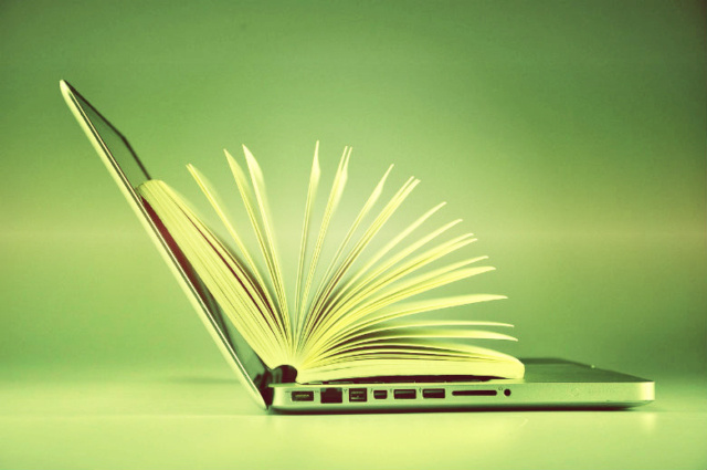 ноутбук с книгой