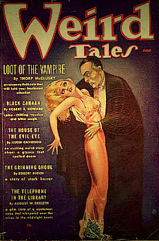 обложка журнала The pulp Weird Tales, 1936